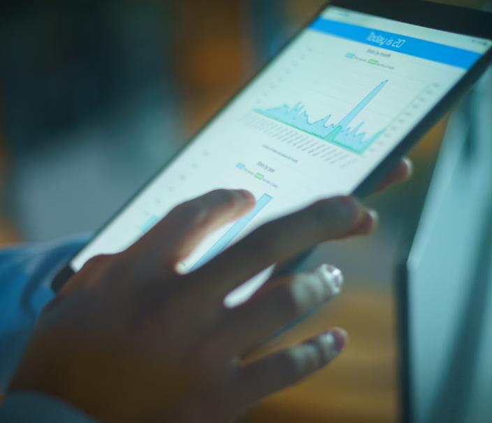 Tablet with digital metrics