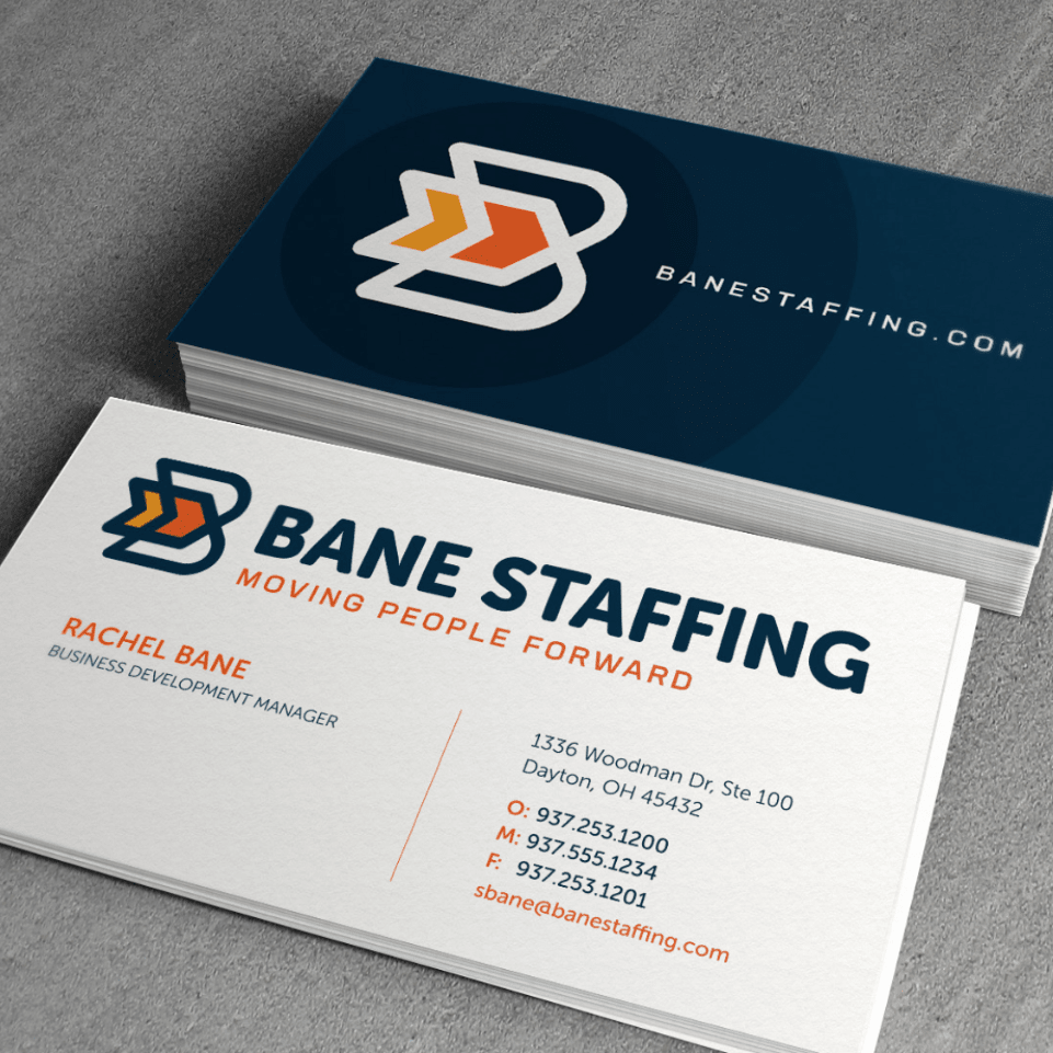 Bane Staffing business cards