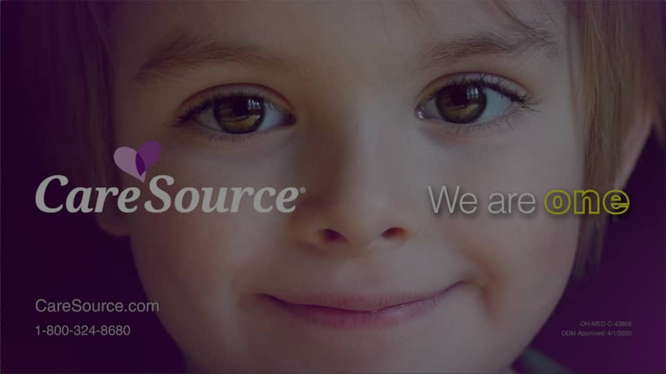 Smiling child in CareSource video