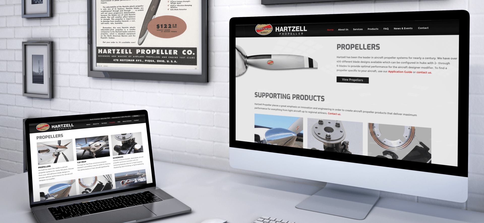 Montage of Hartzell Propeller Advertising and Marketing materials