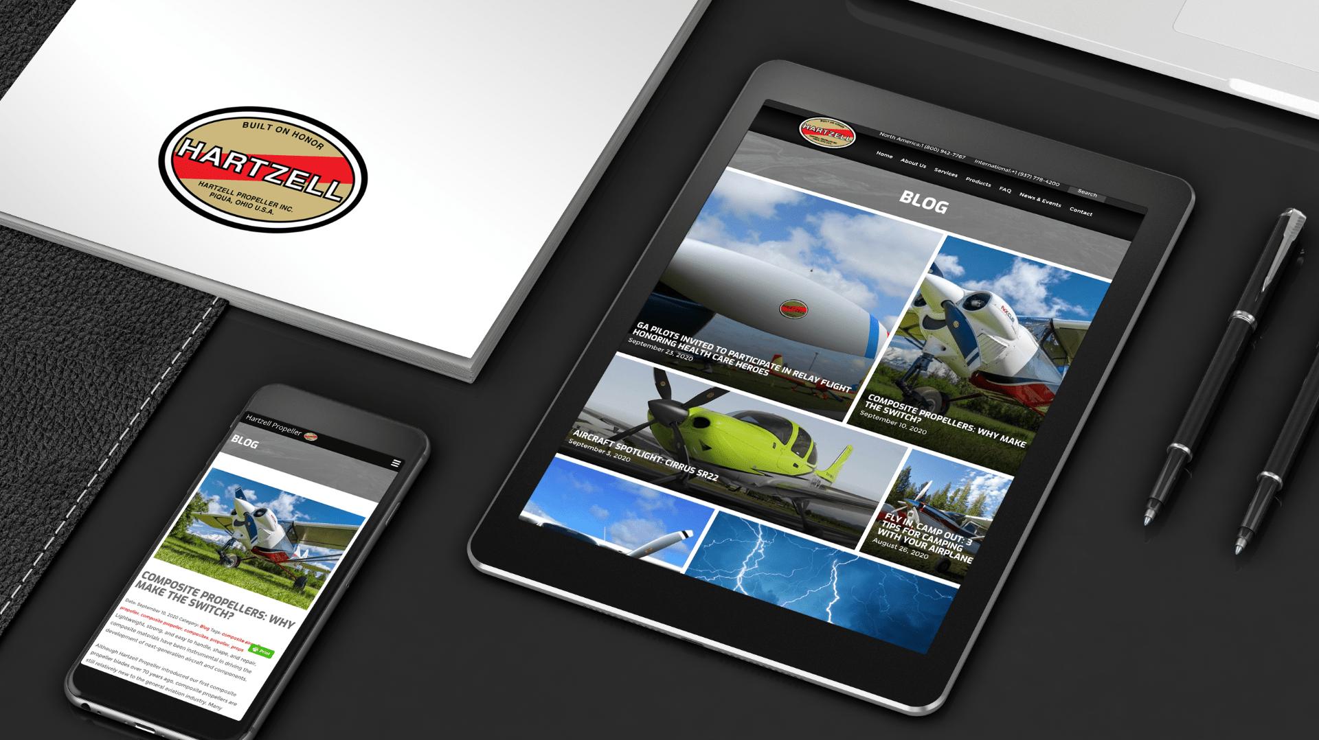 Hartzell Propeller Website screenshots