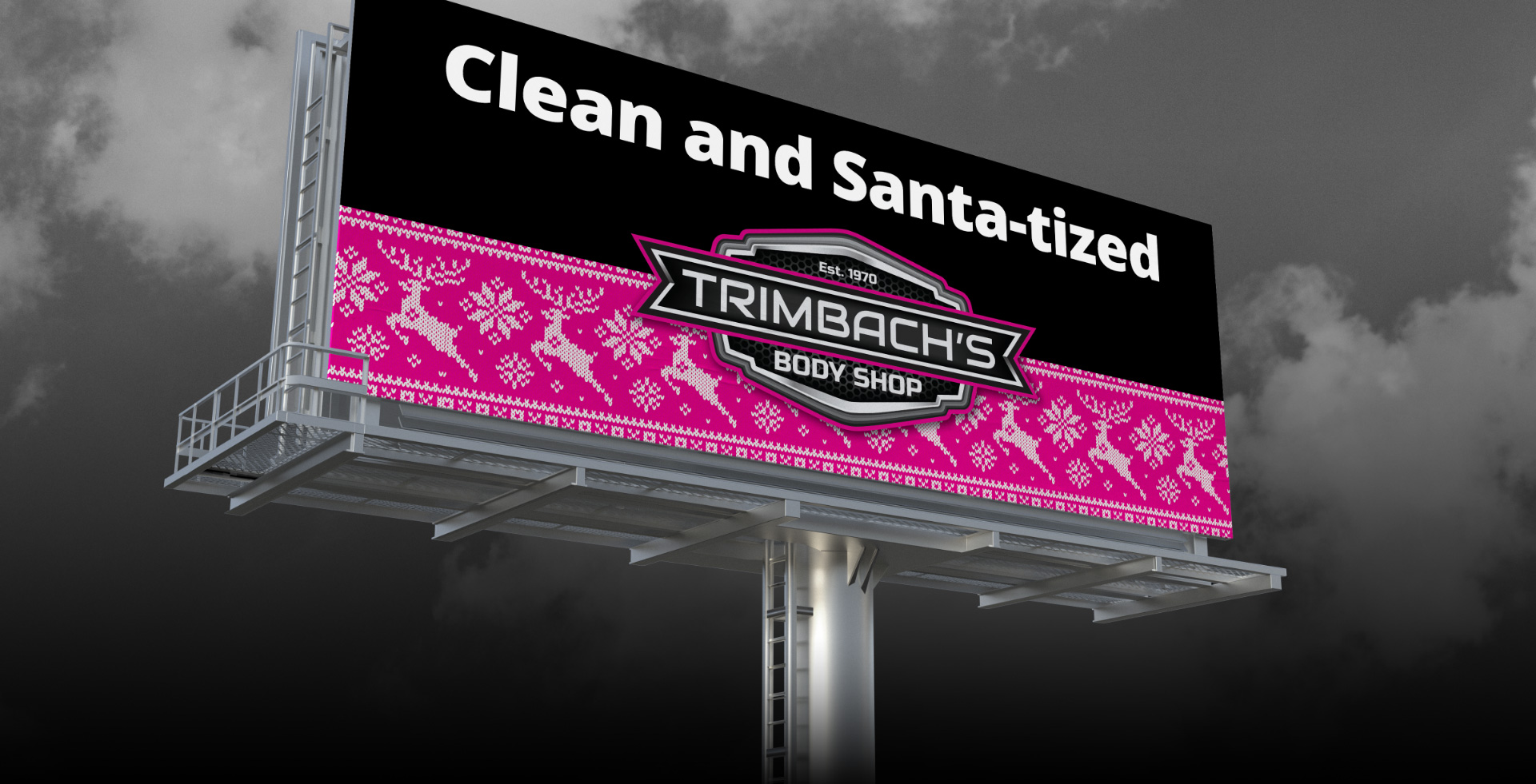 Clean and Santa-Tized Trimbach's Billboard