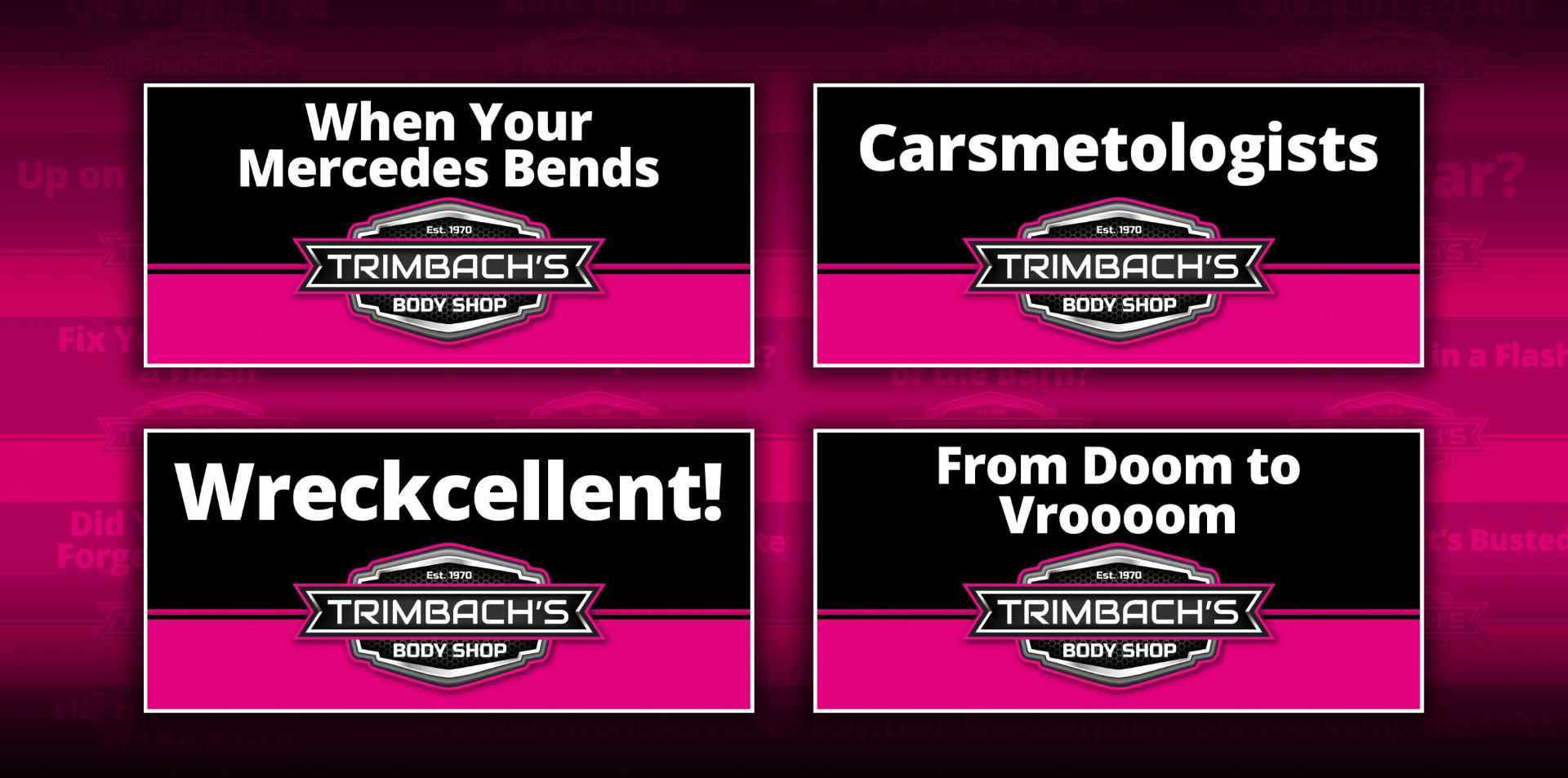 Four Trimbach's Body Shop billboards