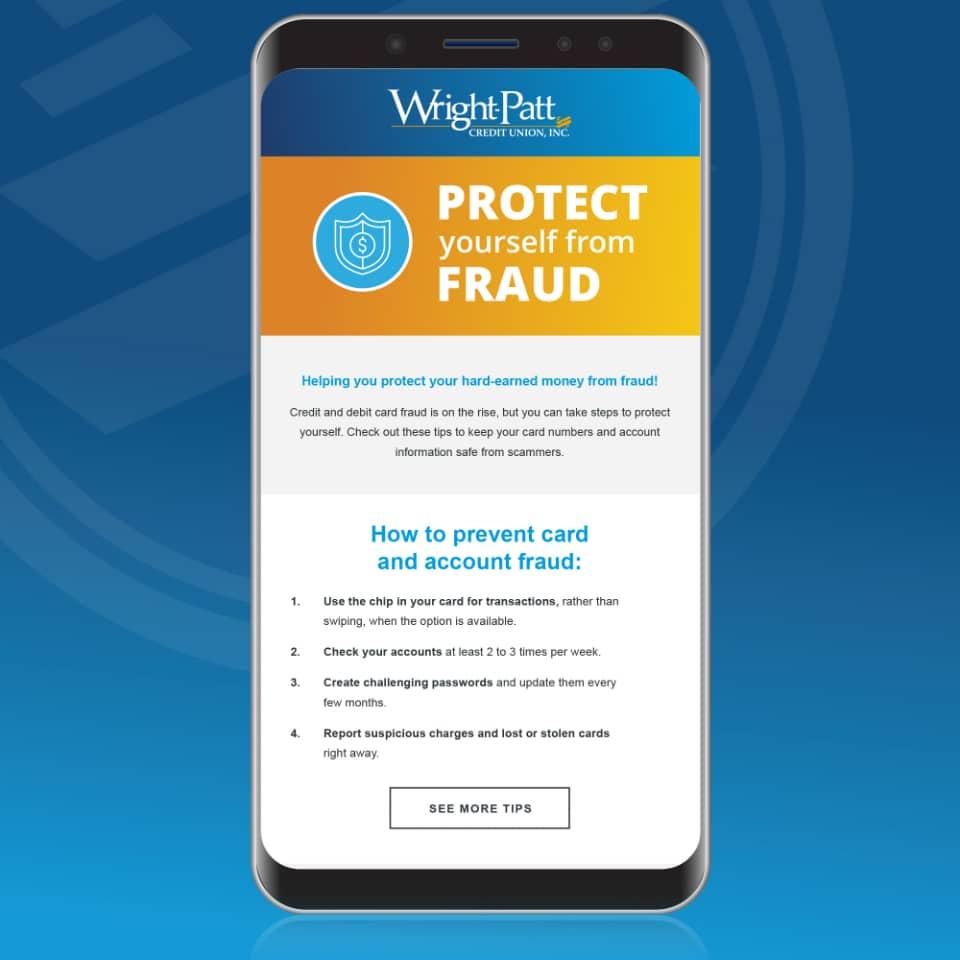 Wright-Patt Credit Union mobile ad