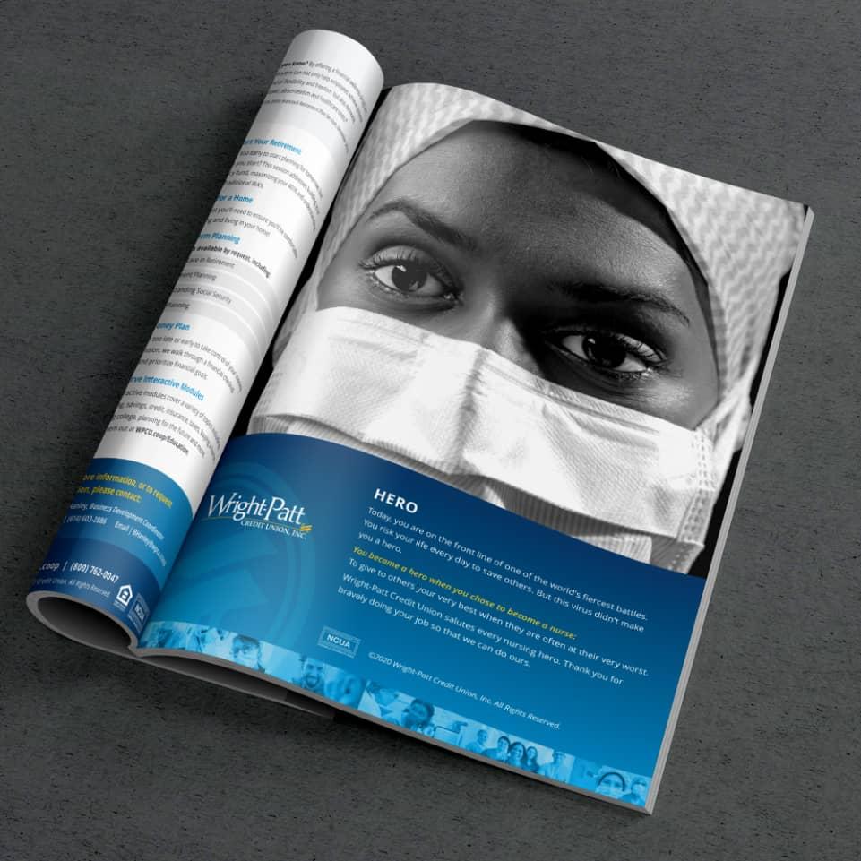 Wright-Patt Credit Union Nurse ad