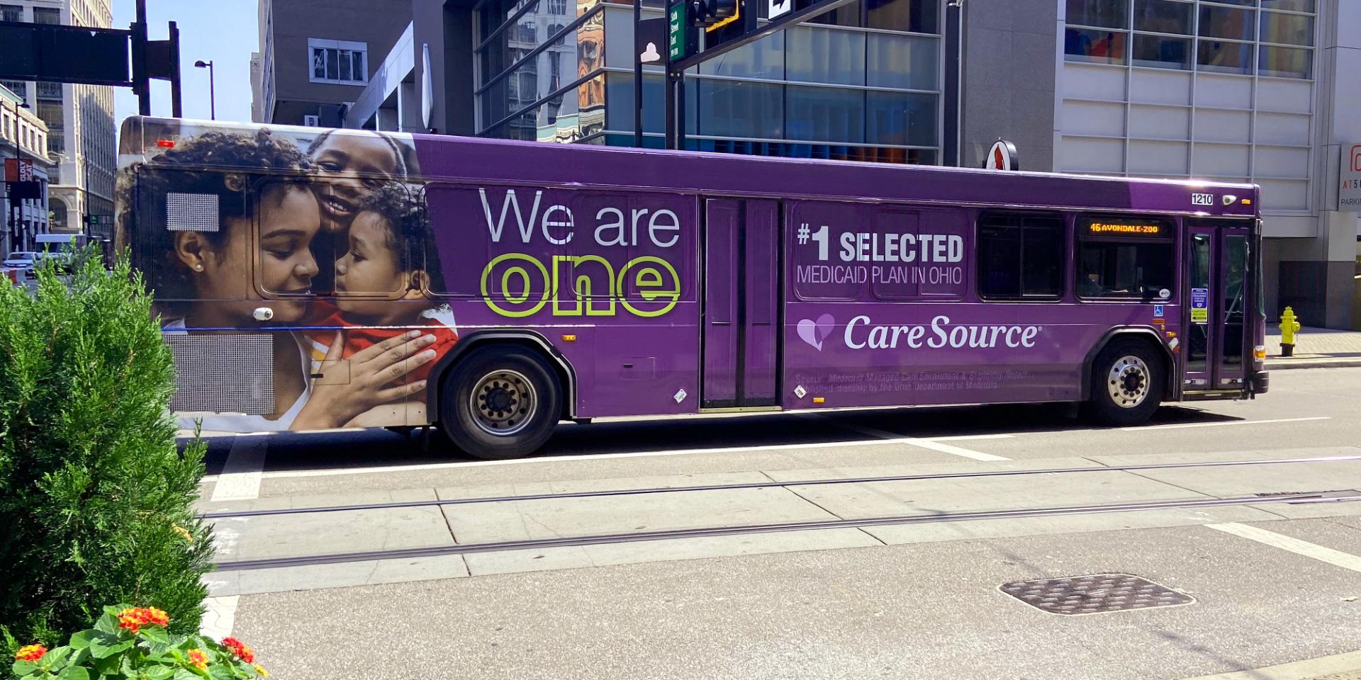 CareSource Bus Wrap